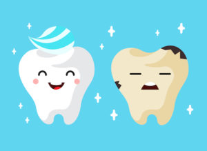 Healthy and Unhealthy Teeth